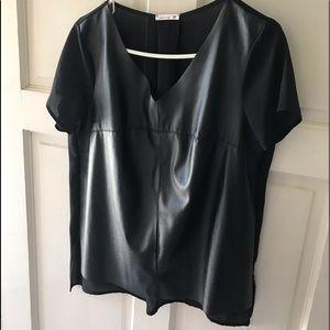 Black blouse large size